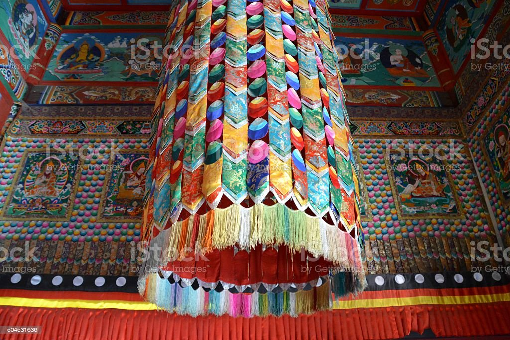 Temple of the Five pagodas in Hohhot, Inner Mongolia stock photo