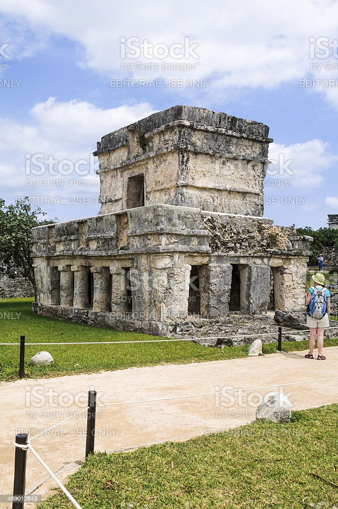 Temple of the Frescos- Tulum royalty-free stock photo