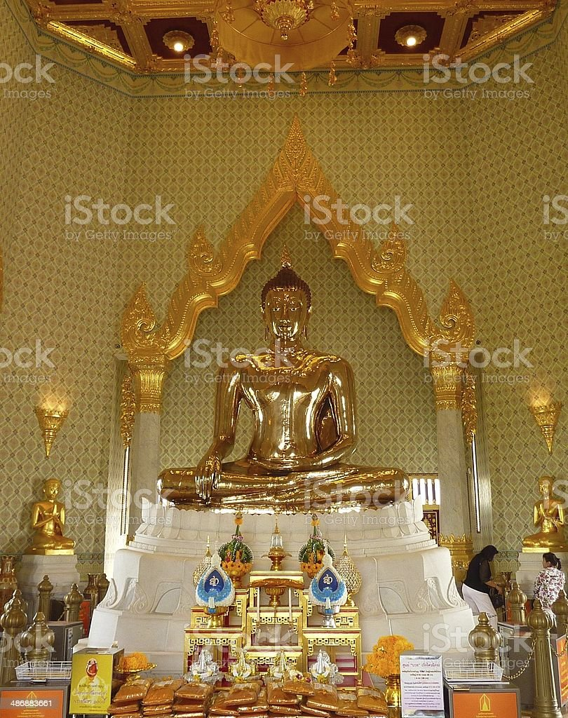 Temple of The Golden Buddha in Bangkok royalty-free stock photo