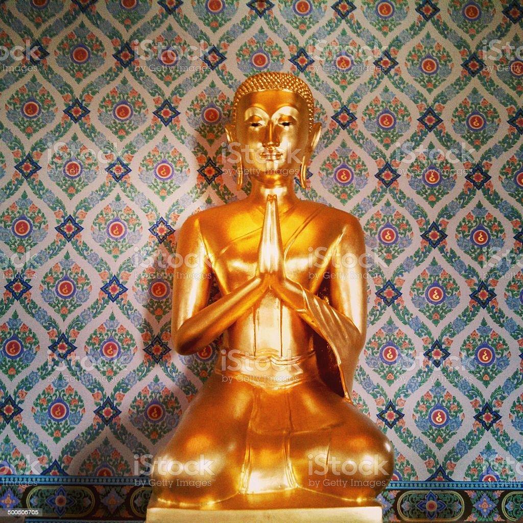 Temple of the Golden Buddha in Bangkok Thailand stock photo