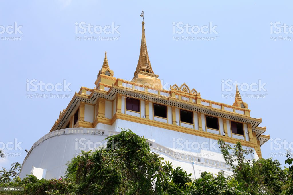 Temple of the Golden Mount stock photo