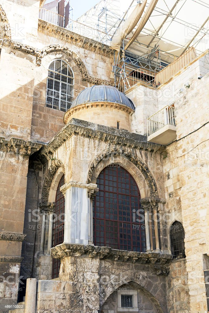 Temple of the Holy Sepulchre in Jerusalem, Israel, Summer 2013 royalty-free stock photo