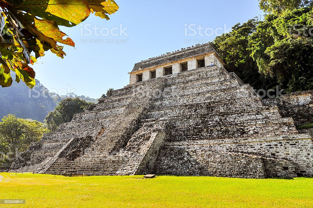 Temple of the Inscriptions - Palenque, Mexico stock photo