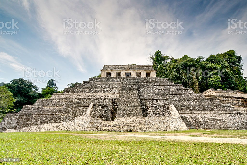 Temple of the Inscriptions. stock photo