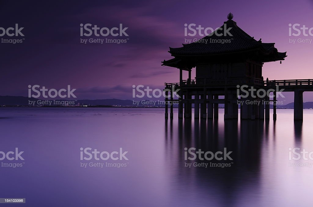 Temple of the lake stock photo