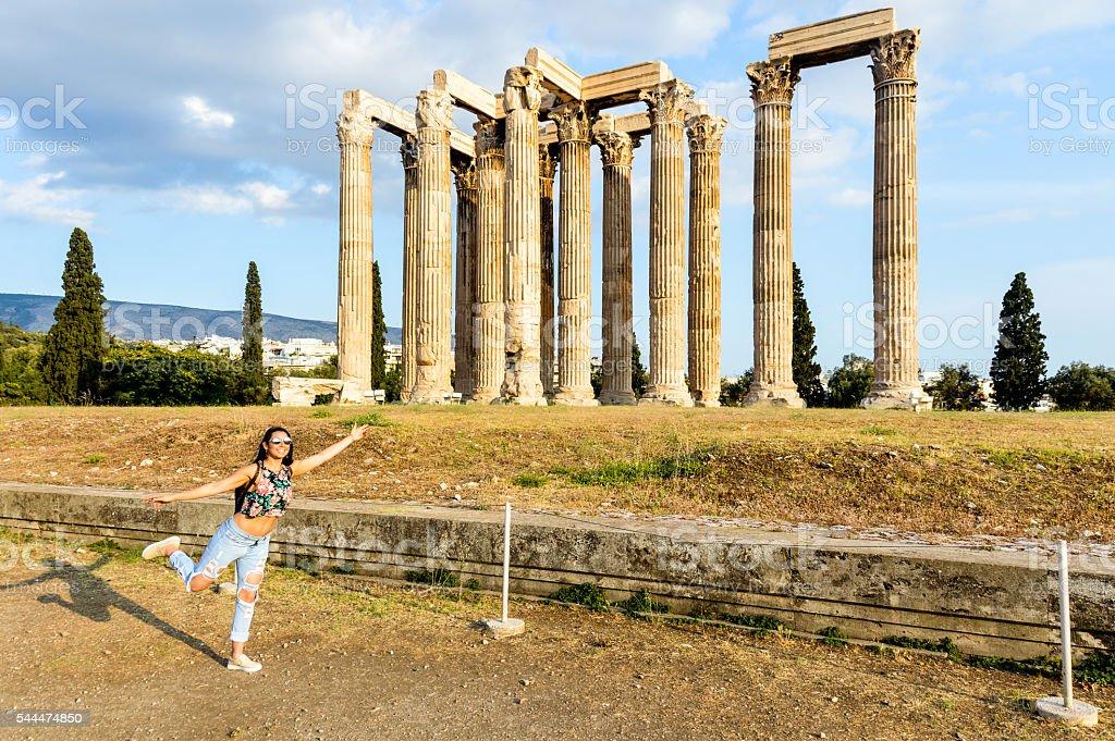 Temple of the Olympian Zeus - Athens, Greece stock photo