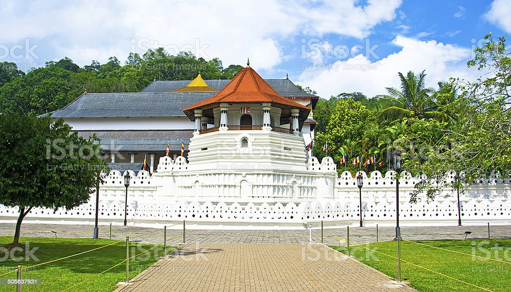 Temple Of The Sacred Tooth Relic - Kandy stock photo