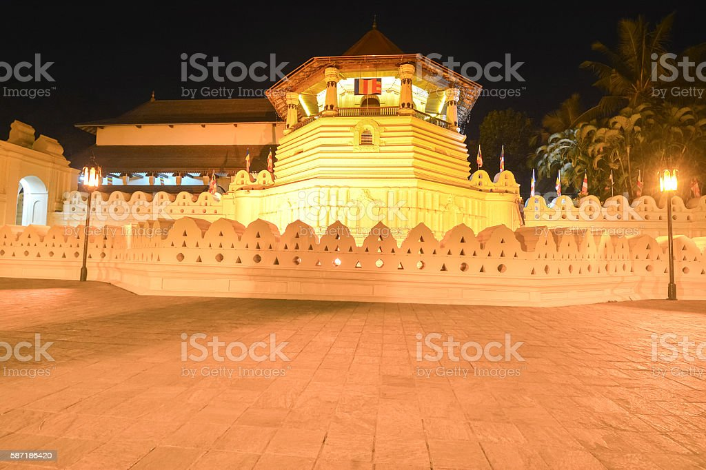 Temple Of The Sacred Tooth Relic, Kandy stock photo