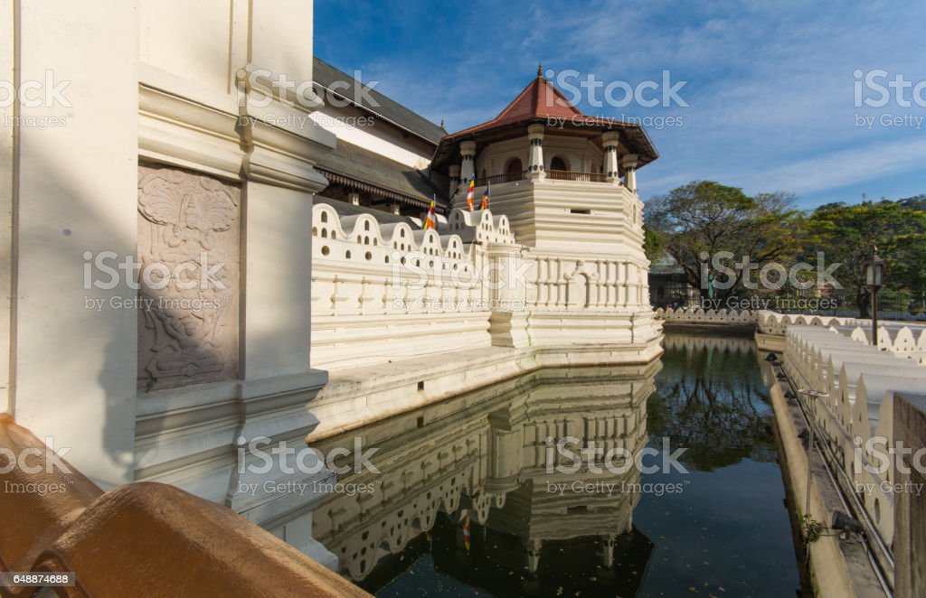 Temple of the Sacred Tooth Relic, Kandy, Sri Lanka, Asia stock photo