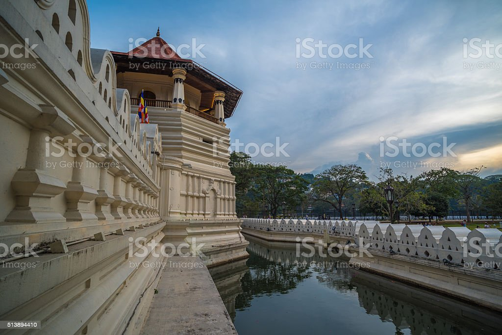 Temple of the Sacred Tooth Relic, Kandy, Sri Lanka stock photo