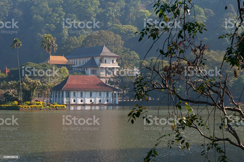 Temple of the Sacred Tooth Relic stock photo