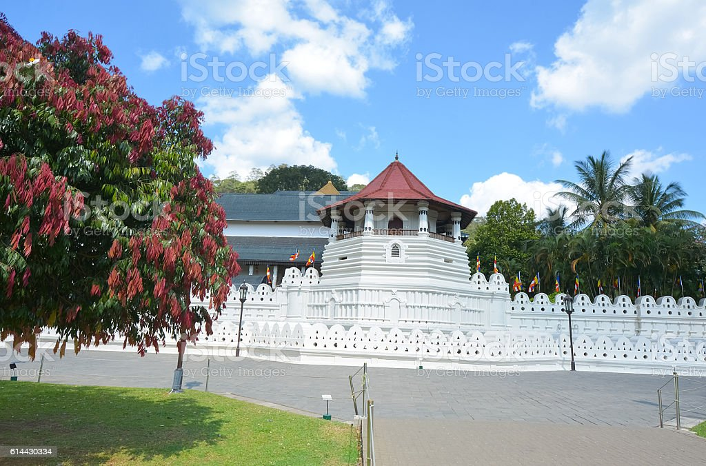 Temple Of The Sacred Tooth Relic - Sri Lanka stock photo