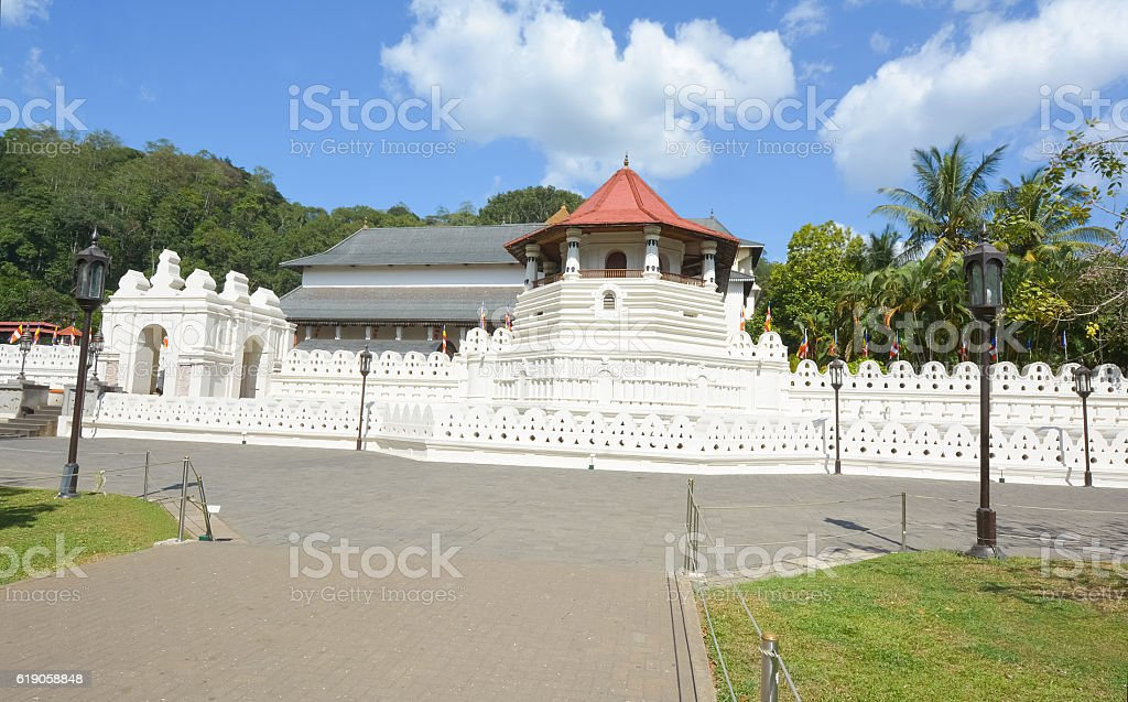 Temple Of The Sacred Tooth Relic, Sri Lanka stock photo