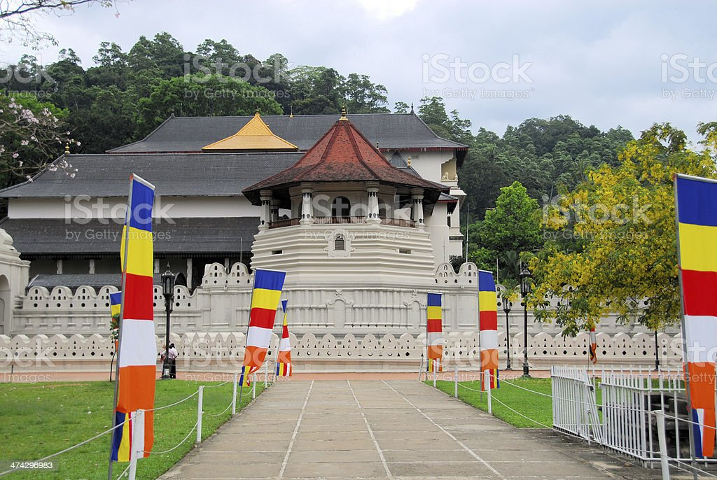 Temple of the Tooth in Kandy, Sri Lanka stock photo