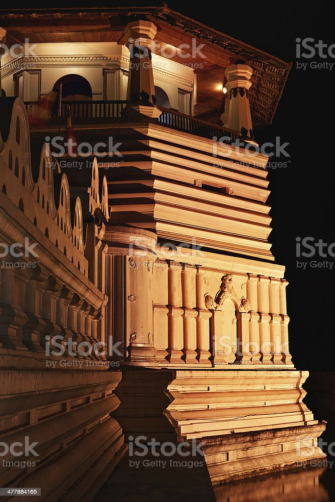 Temple of the Tooth in Kandy, Sri Lanka royalty-free stock photo