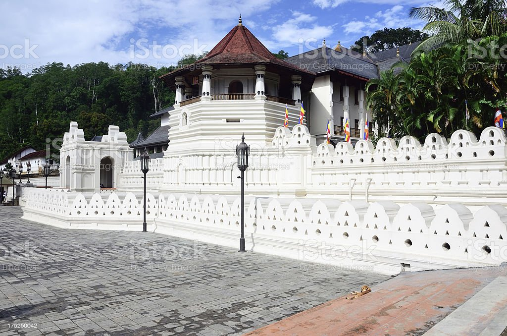 Temple of the Tooth, Kandy stock photo