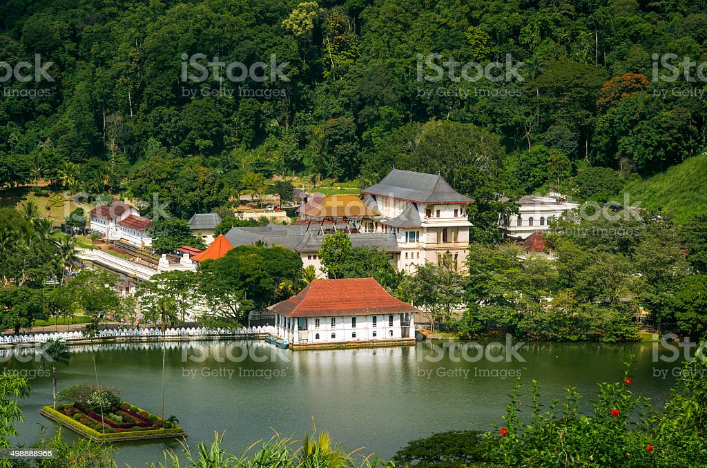 Temple of the Tooth, Kandy, Sri Lanka stock photo
