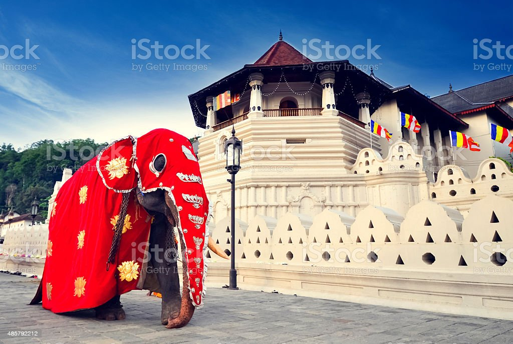 Temple of the tooth of Buddha, Kandy, SriLanka stock photo