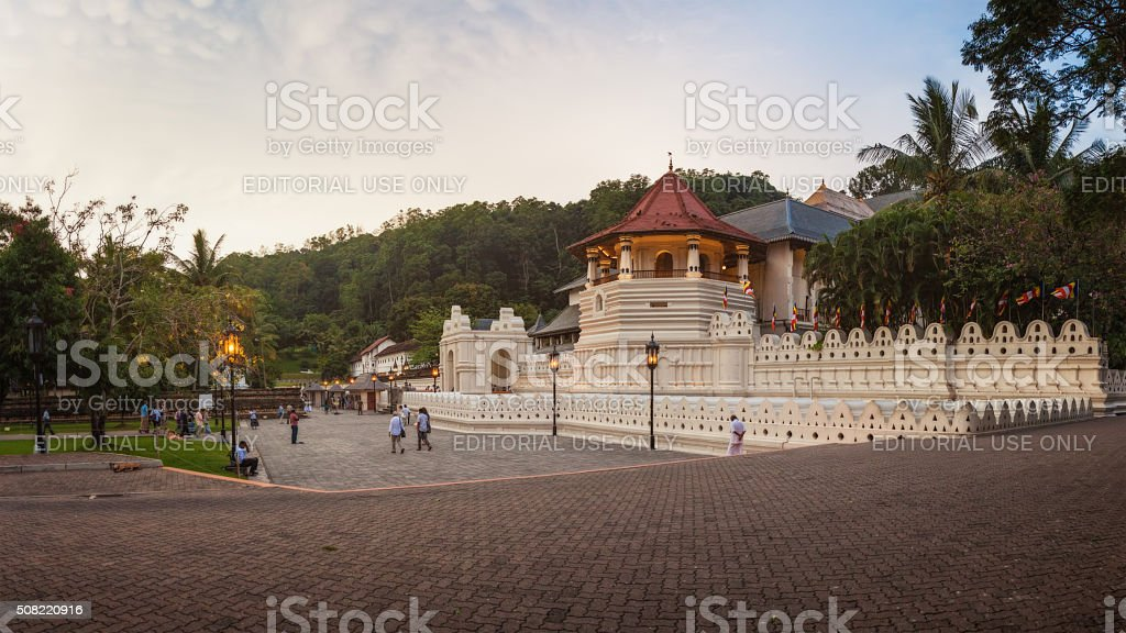 Temple of the Tooth, Sri Lanka stock photo