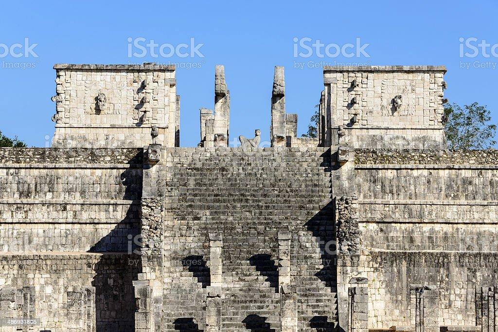 Temple of the Warriors, Chichen Itza, Mexico -XXXL royalty-free stock photo