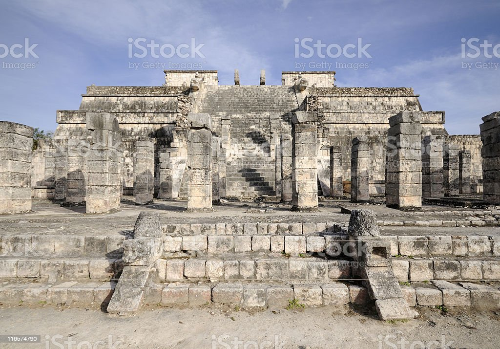 Temple of the Warriors royalty-free stock photo