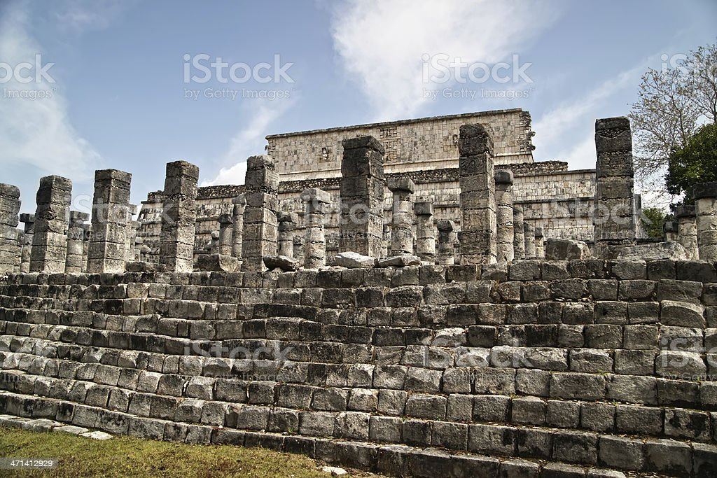 Temple of the Warriors, royalty-free stock photo