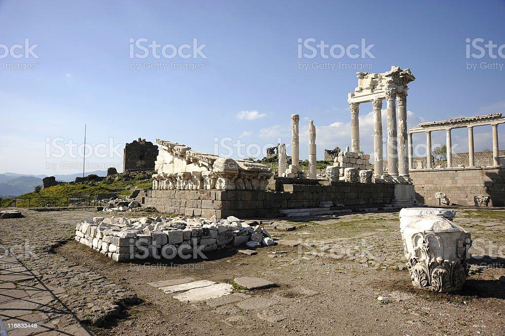 Temple of Trajan II stock photo