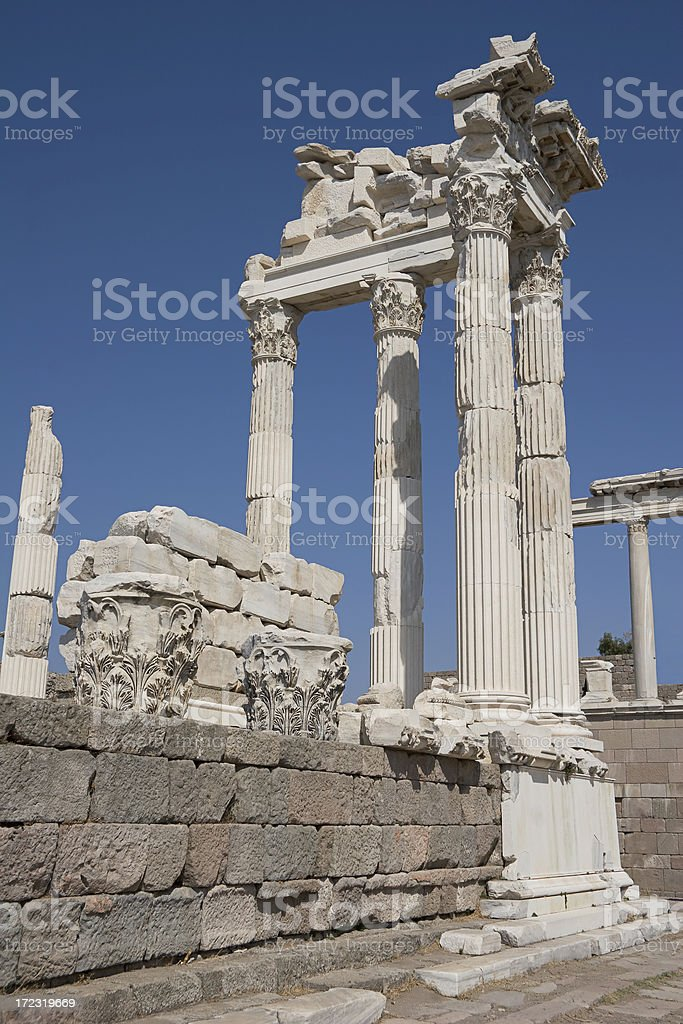 Temple of Trajan royalty-free stock photo