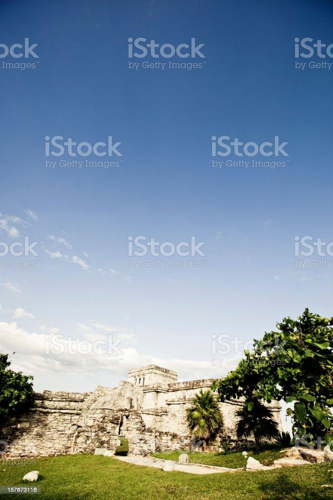 Temple of Tulum stock photo