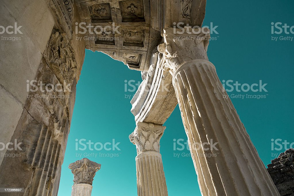 Temple of Tyche royalty-free stock photo