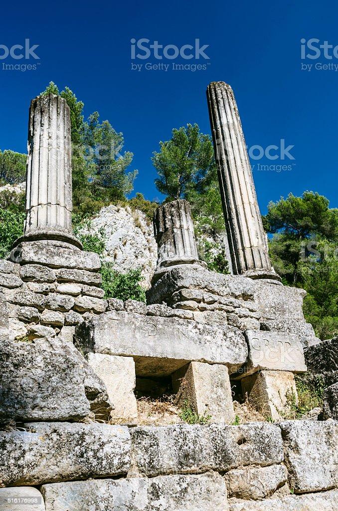 Temple of Veletudo, Glanum, France stock photo