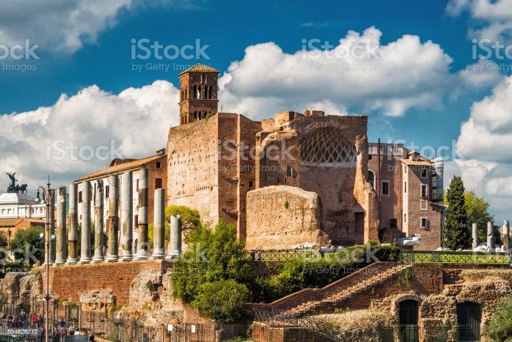 Temple of Venus at the Roman Forum, Rome stock photo