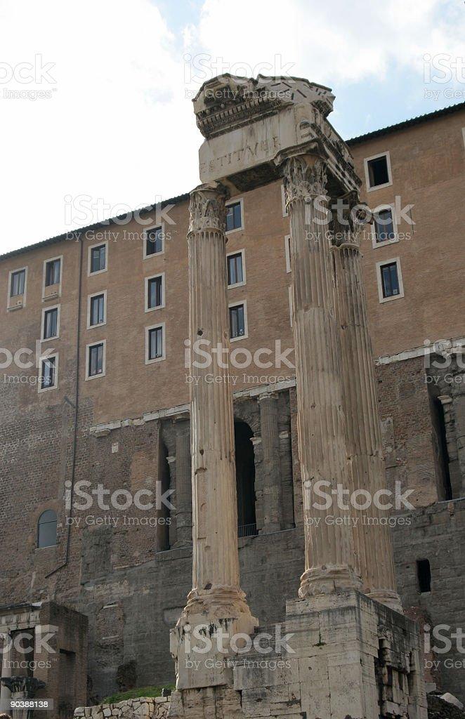 Temple of Vespasian royalty-free stock photo