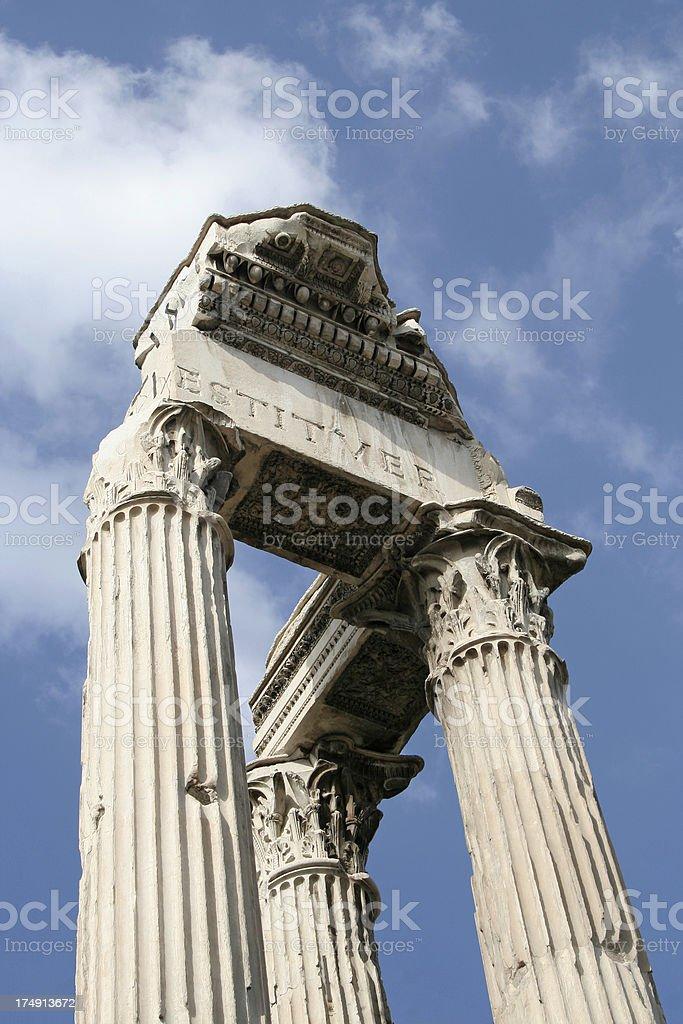 Temple of Vespasiano royalty-free stock photo