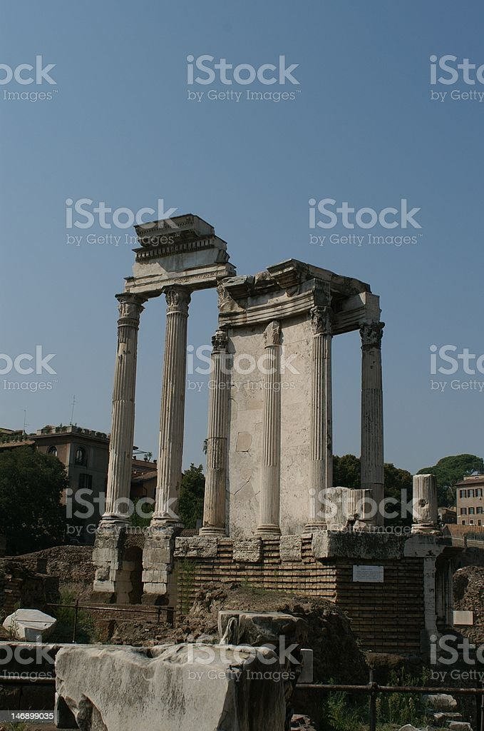 Temple of Vesta royalty-free stock photo
