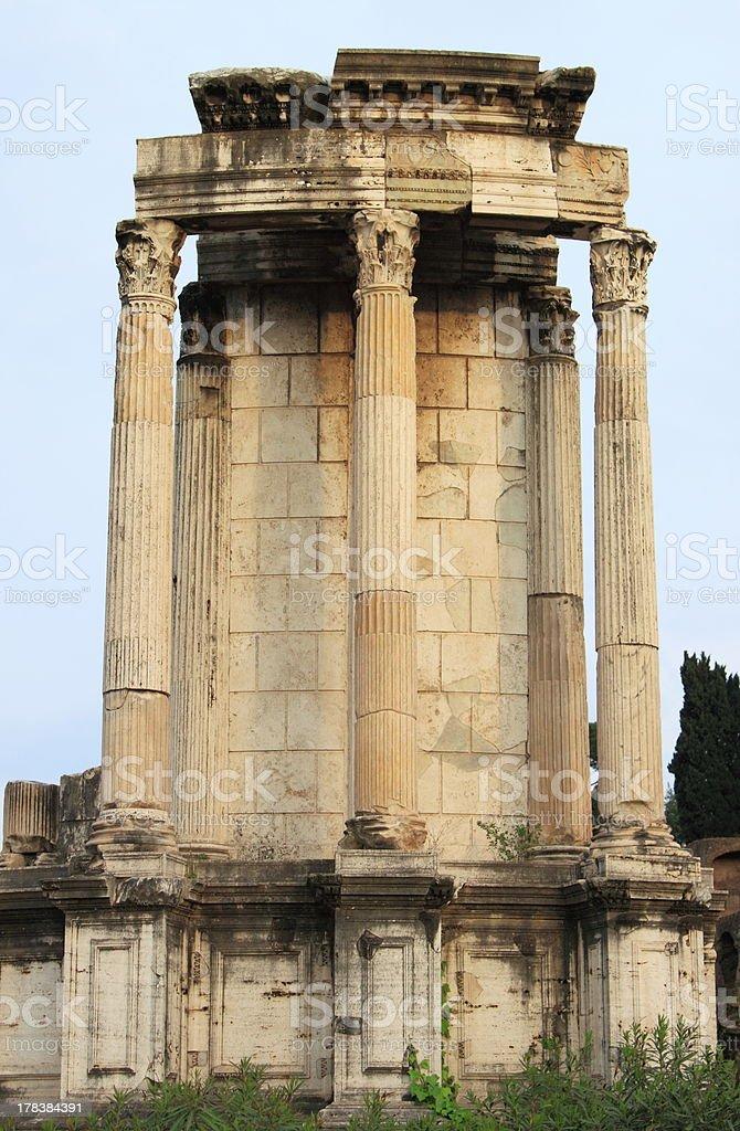 Temple of Vesta stock photo