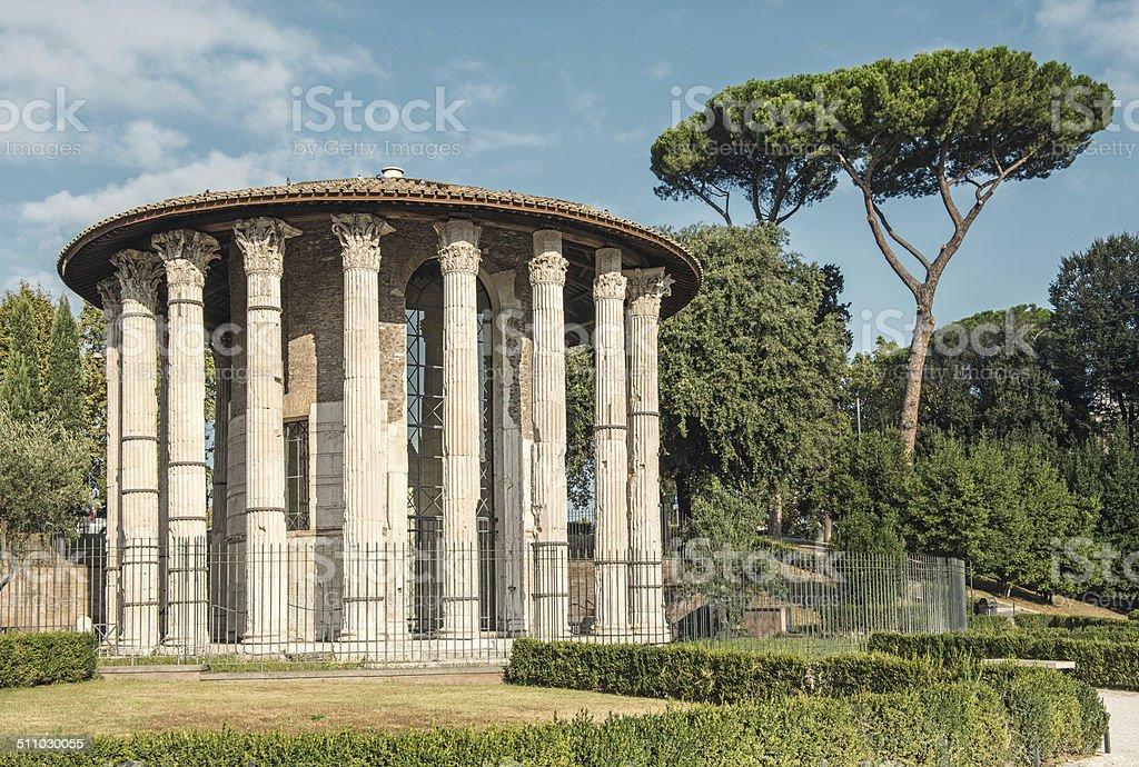 Temple of Vesta, Rome stock photo