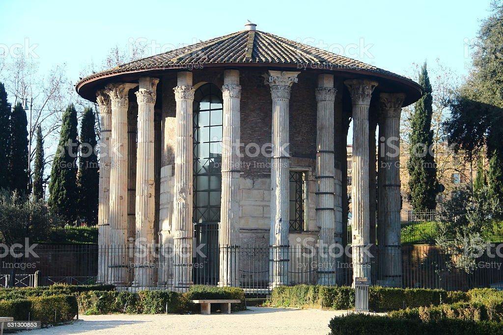 Temple of Vesta - Rome stock photo