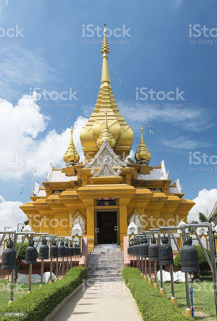 temple of Wat Kroen Kathin in Lop Buri stock photo