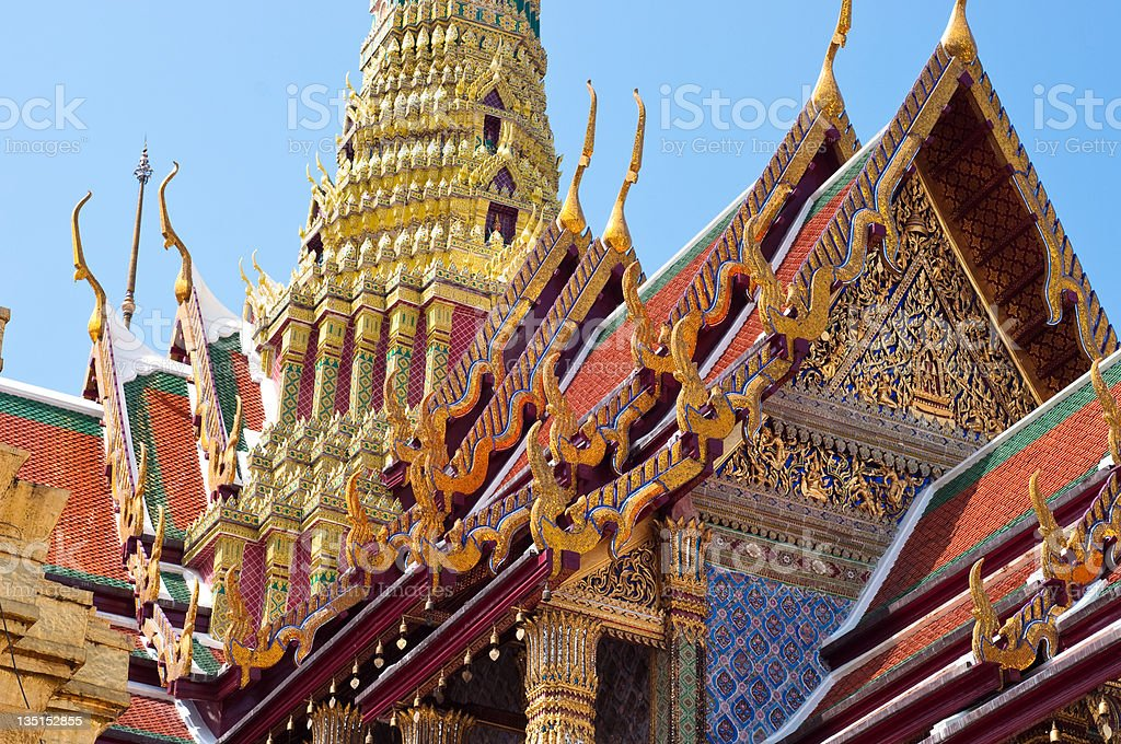 Temple of Wat Prakeaw royalty-free stock photo