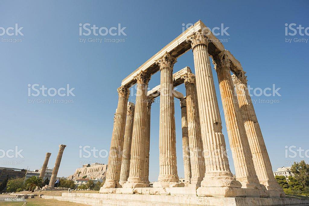 Temple of Zeus, Athens Greece stock photo