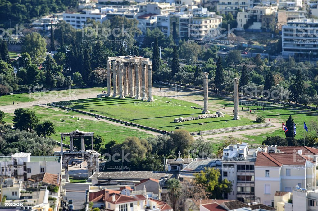 Temple of Zeus, Athens stock photo