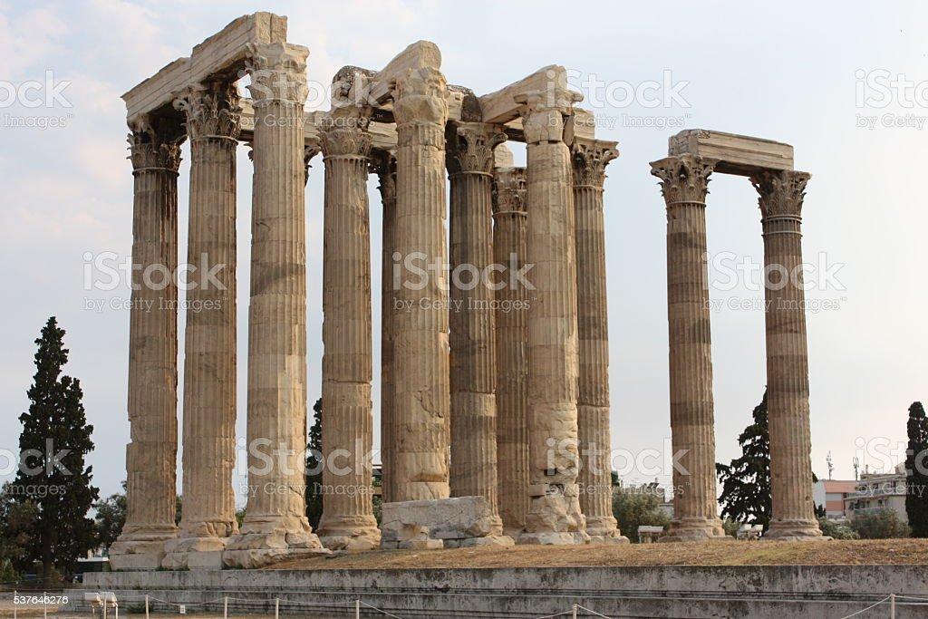 Temple of Zeus in Athens stock photo