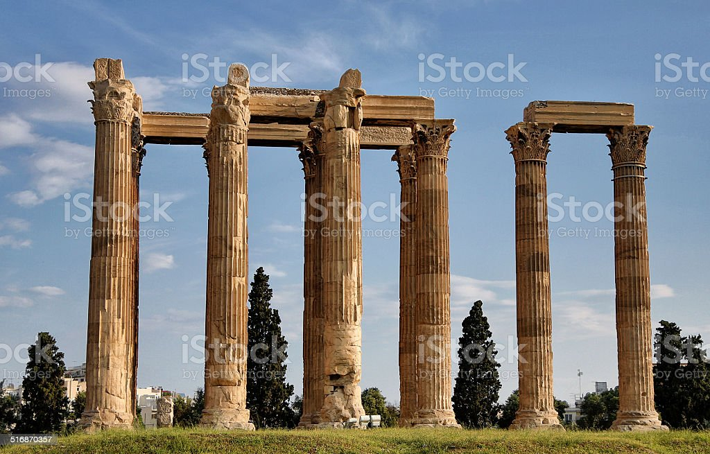 Temple of Zeus stock photo