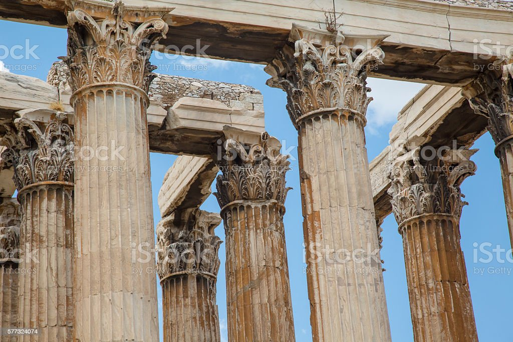 Temple of Zues Olympia stock photo