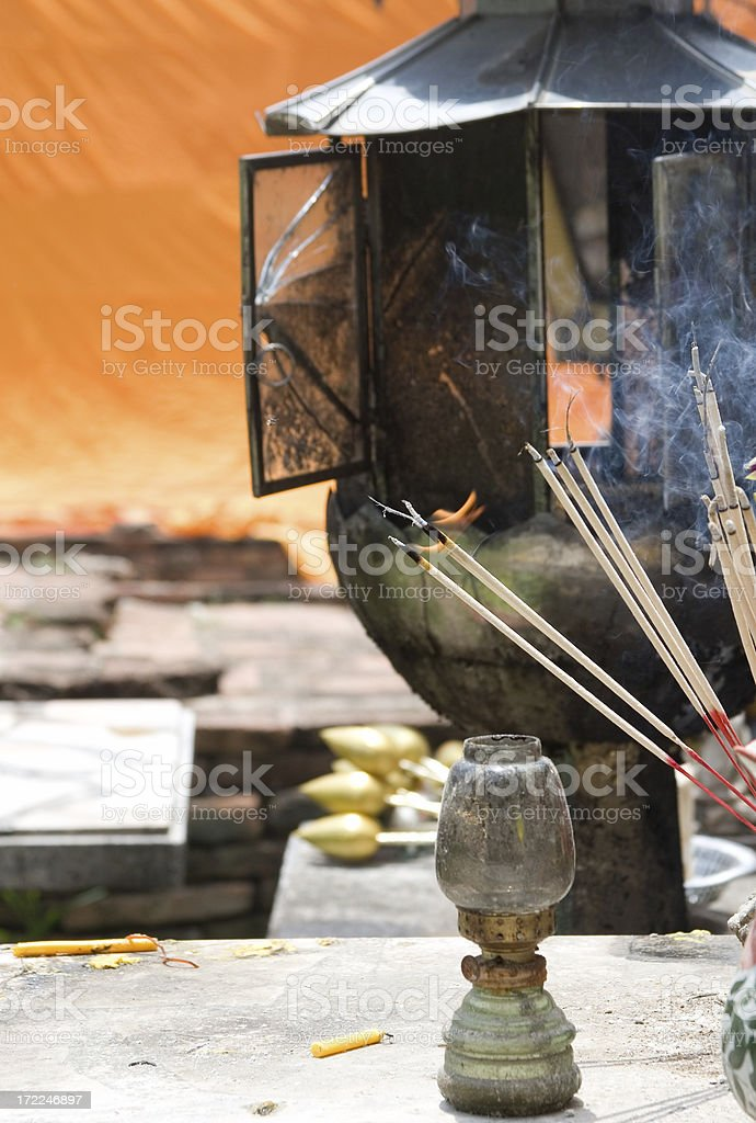 Temple offerings stock photo
