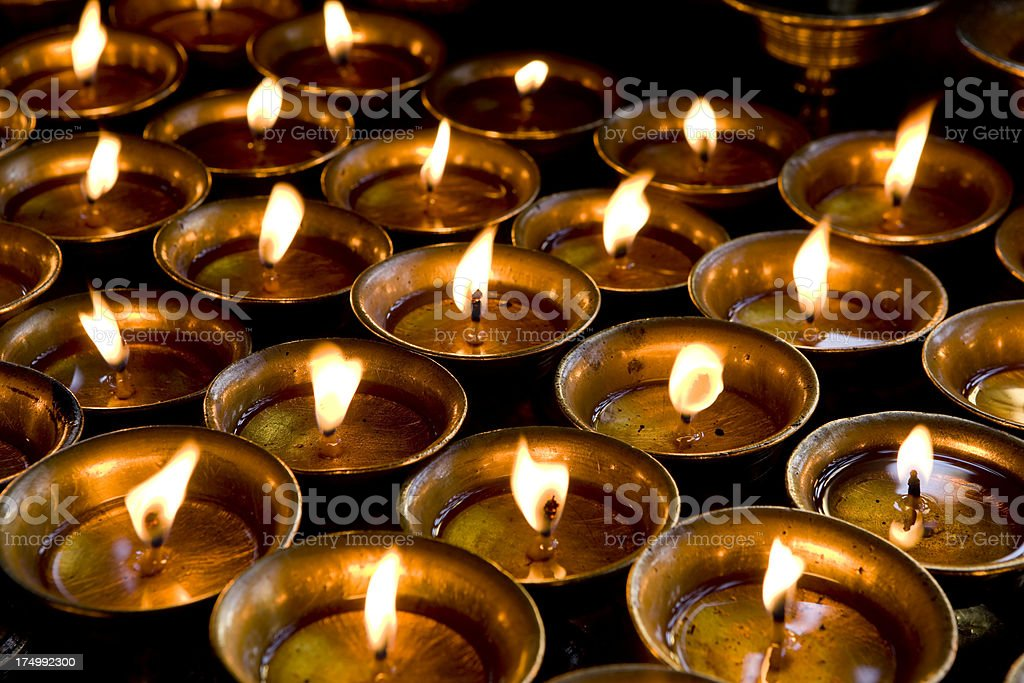 temple oil lamps diya royalty-free stock photo