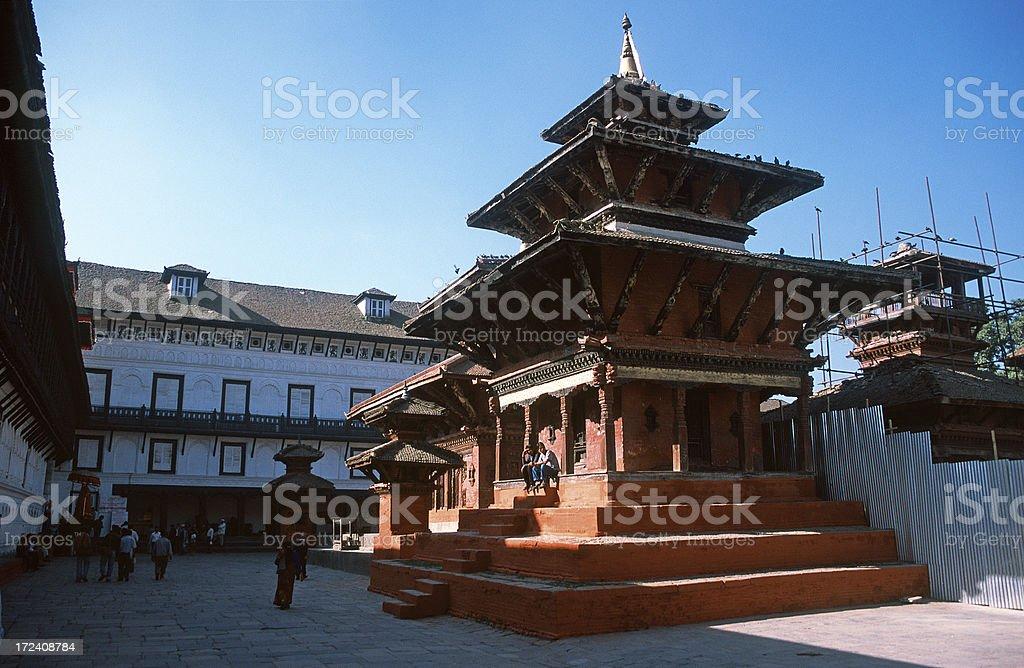 Temple on Durbar square stock photo