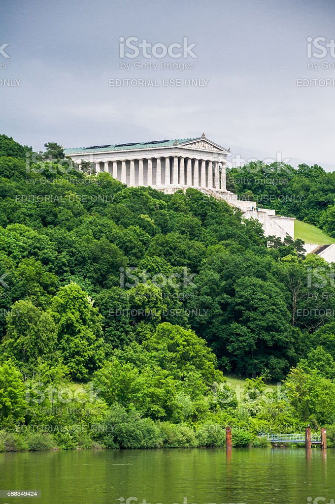 Temple on the Danube stock photo
