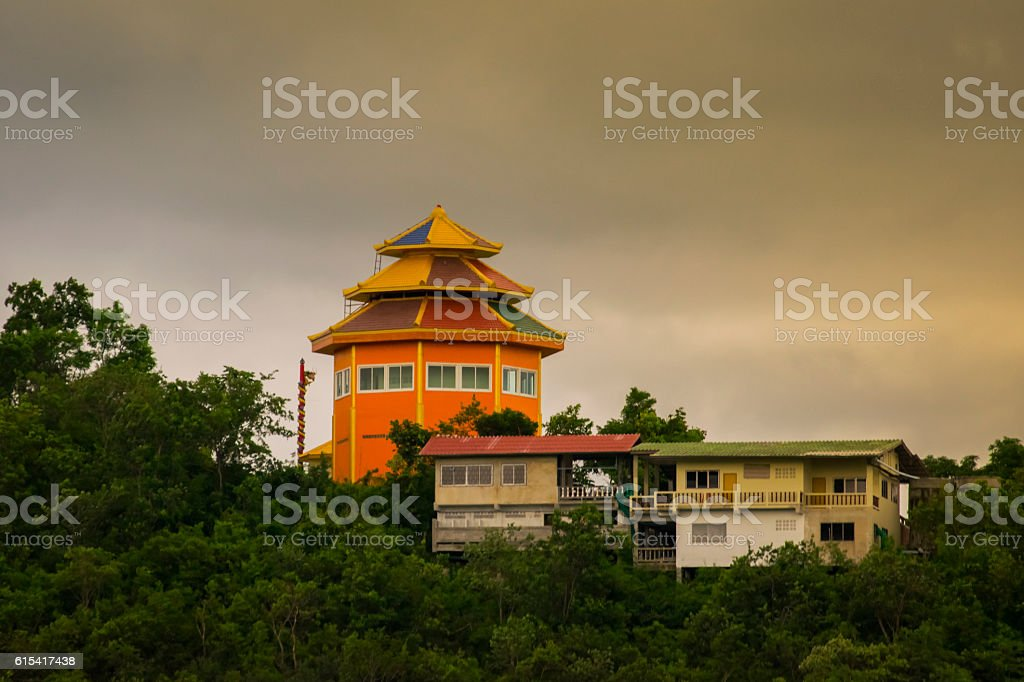 Temple on the hill stock photo